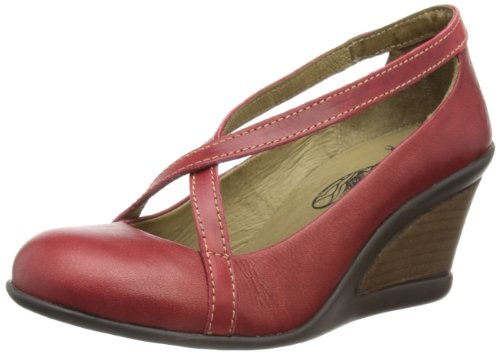 Fly London Women's Jelo Red/Red Wedges Heels P142532002 3 UK