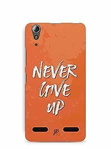 YuBingo Never Give Up Designer Mobile Case Back Cover for Lenovo A6000 Plus