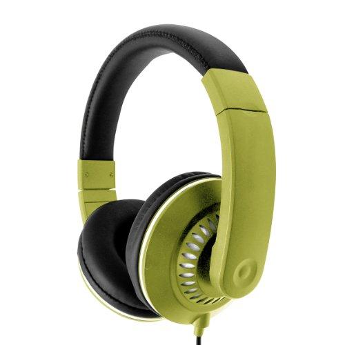 Vibe Sound Vshp886Grn Stereo Spiral Headphones - Green