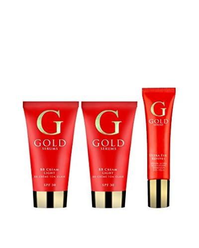 Gold Serums Set Facial 3 Uds. Light