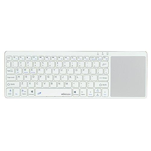 KKmoon ワイヤレスキーボード Bluetooth3.0キーボード キーボード 超薄型キーボード タッチパッド付き iPhone 6s/iPad Pro/MacBook /スマートフォン /タブレットPC用