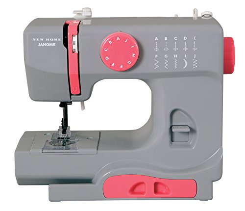 Janome Graceful Gray Basic, Easy-to-Use, 10-Stitch Portable, Compact Sewing Machine with Free Arm only 5 pounds (Janome 234 compare prices)
