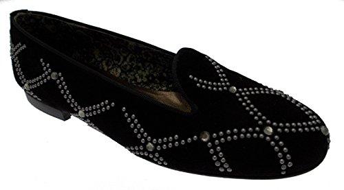 paperina ballerina pantofolina camoscio nero borchie art 3505 40 nero