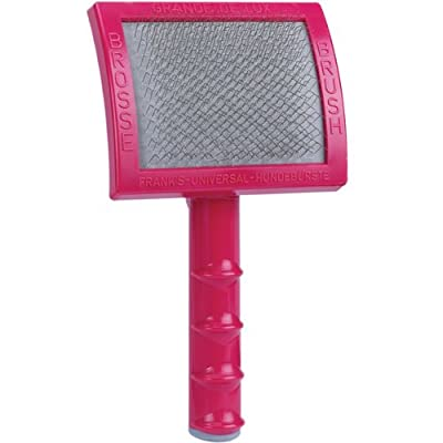 Oscar Frank Grand de Luxery Premium Plastic Handle Pet Slicker Brush, Large, Pink by PetEdge Dealer Services
