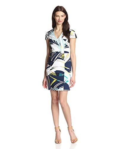 4.collective Women's Curvilinear Split Neck Dress