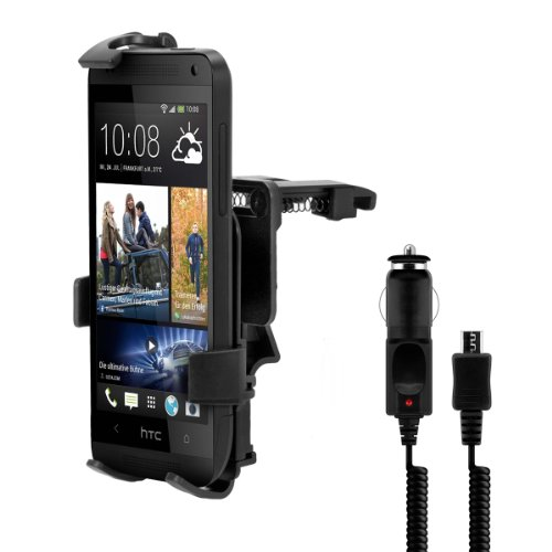 Car vent mount for HTC One Mini M4 + charger