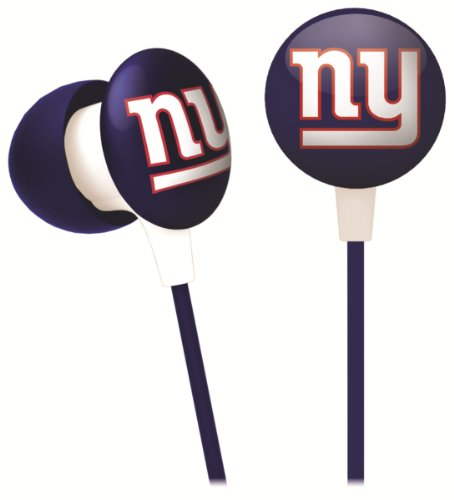 iHip NFF10200NYG NFL New York Giants Mini Ear Buds, Blue/Red/White at Amazon.com