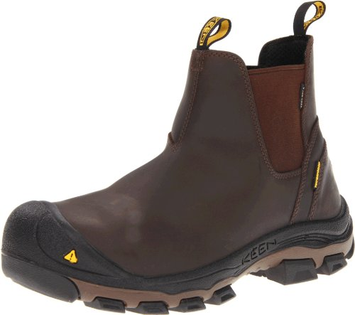 Keen Utility Men's Portland PR Slip-On Slate Black Boot 8 EE - Wide