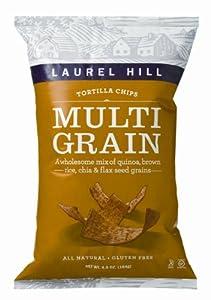 Laurel Hill Tortilla Chips Multigrain, 6.5-Ounce Bags (Pack of 12)