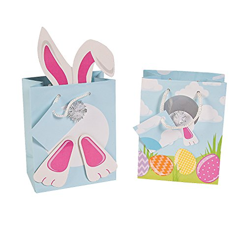 Easter Bunny Rabbit Gift Bags - 12 pieces - 1