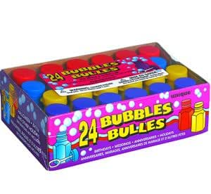 Assorted Coloured Party Bubbles pack of 24