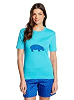 Carl Ross Parte Arriba Pijama (Turquesa / Azul Royal)
