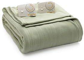 Biddeford Blankets Llc Full Comfort Knit Heated Blanket Sage Electric Blankets Review Bfjaghr