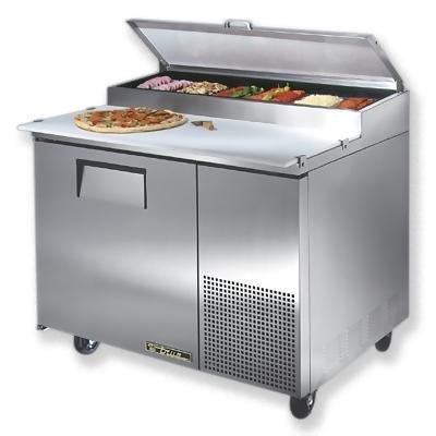 True - Refrigerated Pizza Prep Tables - One (1) Door - 44.5