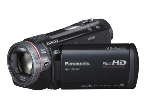 Panasonic TM900 Full HD 1920x1080p (50p) 3D Ready Camcorder - Black (3MOS Sensor, 32GB Inbuilt Flash, SD Card Recording, Leica Dicomar Lens and Manual Control Ring)