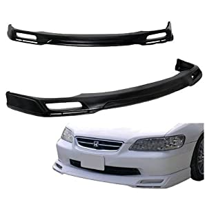 98-02 Honda Accord Sedan 4 Door J-Type Add-On Front Bumper Lip Urethane