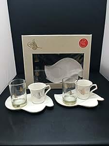 6 tlg espresso tassen set kaffee 39 tugra 39 mokka. Black Bedroom Furniture Sets. Home Design Ideas