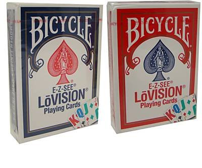 Bicycle Lo-Vision Special Playing Cards - 2 Decks - 1