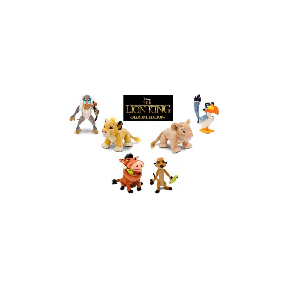 Exclusive The Lion King Plush Stuffed Animal Toy Doll Set
