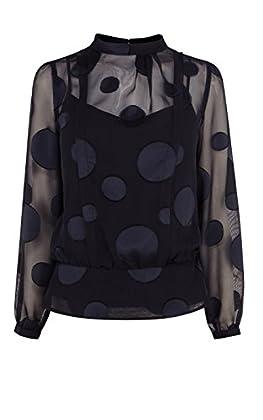 Dot devore blouse