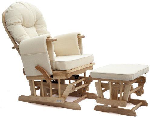 Sereno Natural Nursing Glider Maternity Rocking Chair With Glide Lock And F