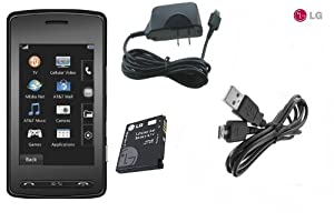 LG CU920 BLK QuadBand Unlocked Phone with Touch Screen, 2MP Camera and MP3 Player - No Warranty - Black