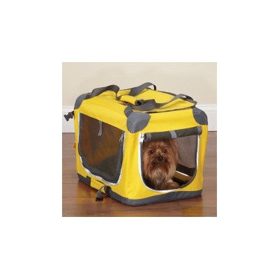 Guardian Gear Nylon Pioneer Soft Dog Crate, Xx-Small, Yellow front-946763