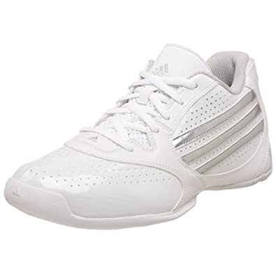 adidas Men's Attack Feather Lo Basketball Shoe,White/Silver/Silver,6.5 M