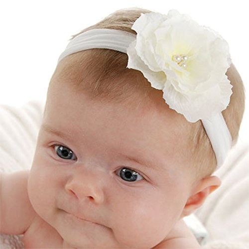 Soft & stretchy nylon baby flower headband - 1