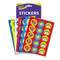 Trend Praise Word Stinky Stickers, Round, Scratch/Sniff, 288/PK