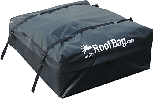 RoofBag Waterproof Carrier - Made in USA - Works on ALL Vehicles: For Cars With Side Rails, Cross Bars or No Rack -Explorer Soft Car Top Cargo Carrier (Roof Rack Cargo Bag compare prices)