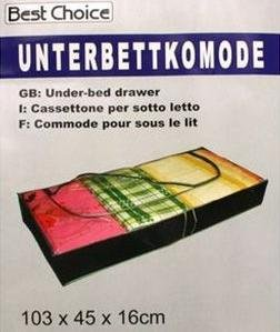 gro&#223;e Unterbettkommode, Ma&#223;e 103 x 45 x 16 cm, Unterbett-Kommode, Unterbettbox, Unterbett Kommode