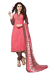 Women Icon Presents Light Pink Embroidered Un-Stitched Dress Material WICKFBRCZB1007
