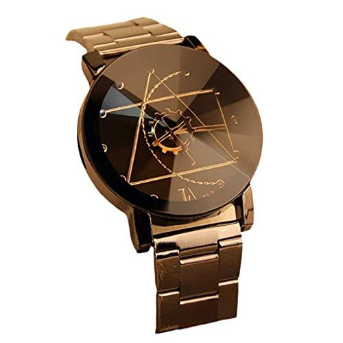 Orologio da polso da uomo,Xinantime Moda in acciaio inox orologio da polso (Nero)