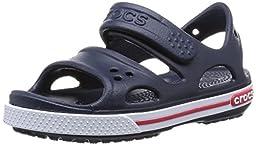 crocs Kids\' Crocband II Sandal (Toddler/Little Kid/Big Kid), Navy/White, 13 M US Little Kid