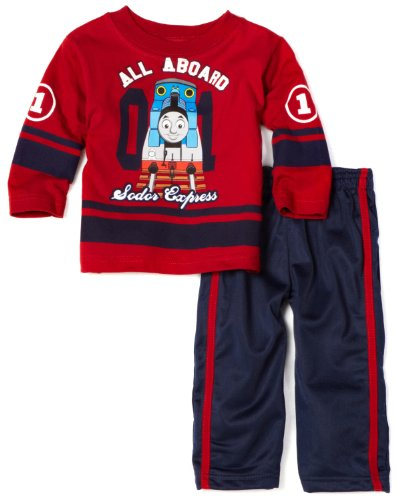 Thomas & Friends Baby-boys Infant All Aboard Clothing Set, Chili Pepper, 24 Months