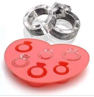 Dgi Mart Party Supplies 6-Cavity Cute Lovely Love Ring Shaped Ice Cake Chocolate Sugar Silicone Mini Cube Craft Fondant Mold Tray front-597482