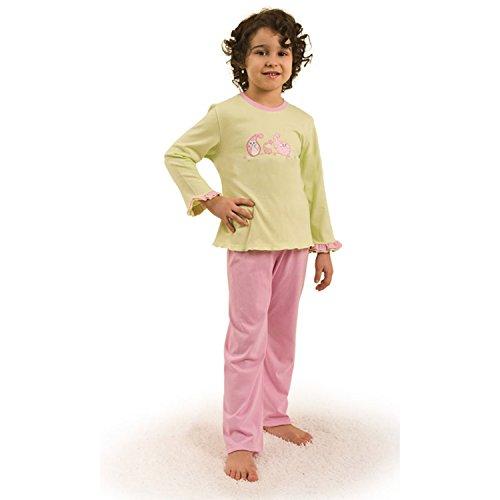 Kinder Schlafanzug Pyjama Mädchen lang rosa 40429 (122)