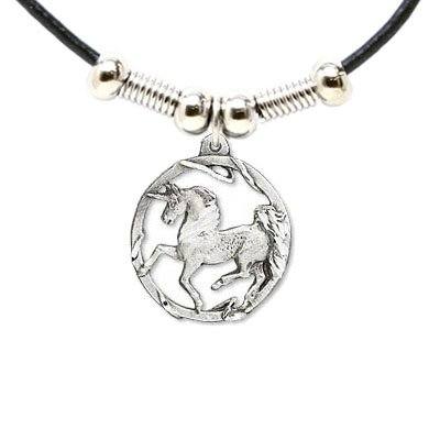 Earth Spirit Necklace - Diamond Cut Unicorn - Earth Spirit Necklace