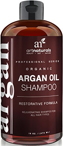 Art Naturals® Organic Daily Argan Oil Shampoo 16 oz,Best Moisturizing, Volumizing Sulfate Free Shampoo for Women, Men & Teens-Used for Dry,Damaged,Colored For All Hair Types - Anti Aging Hair Care