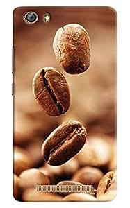 Omnam Coffee Beans Lying Designer Back Cover Case For Gionee Marathon M5 Lite