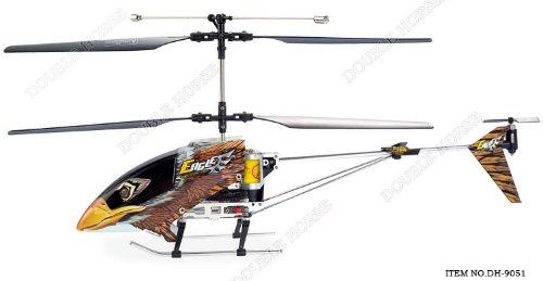 Double Horse 9051A/9051B 3.5 Channel Metal Frame Helicopter w/ Built in Gyro & Flashing LED Lights (Styles May Vary)