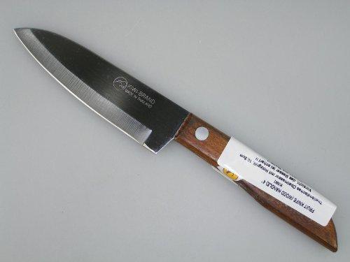 """KIWI 4"""" Sharp Pairing Knife, with wood Handle # 503"""