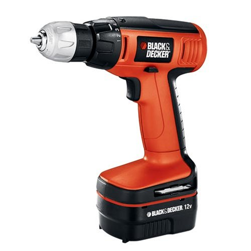 Black & Decker CDC120ASB 12-Volt Compact Drill with 20 Accessories