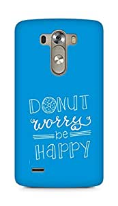 AMEZ donut dont worry be happy Back Cover For LG G3