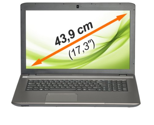 "MEDION AKOYA E7227 (MD 99149) 43,9cm (17,3"" Zoll) Notebook (Intel i3 4000M, 2.4GHz, 500GB HDD, 4GB RAM, Intel HD, HD-Display, Windows 8.1) titan"