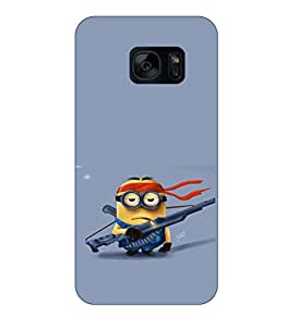 Happoz Samsung Galaxy Note 7 (N930G) Cases Back Cover Mobile Pouches Shell Hard Plastic Graphic Armour Premium Printed Designer Cartoon Girl 3D Funky Fancy Slim Graffiti Imported Cute Colurful Stylish Boys D140