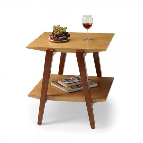 Cheap Chai End Table with Wooden Legs (Caramel) (22″H x 22″W x 23.12″D) (CHAI-01W)