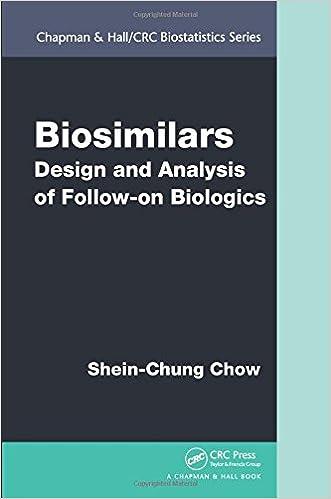 Biosimilars: Design and Analysis of Follow-on Biologics (Chapman & Hall/CRC Biostatistics Series)