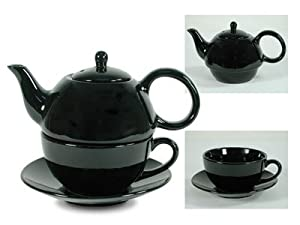 Tea for One Black Gloss - EnglishTeaStore Brand by Showind Products